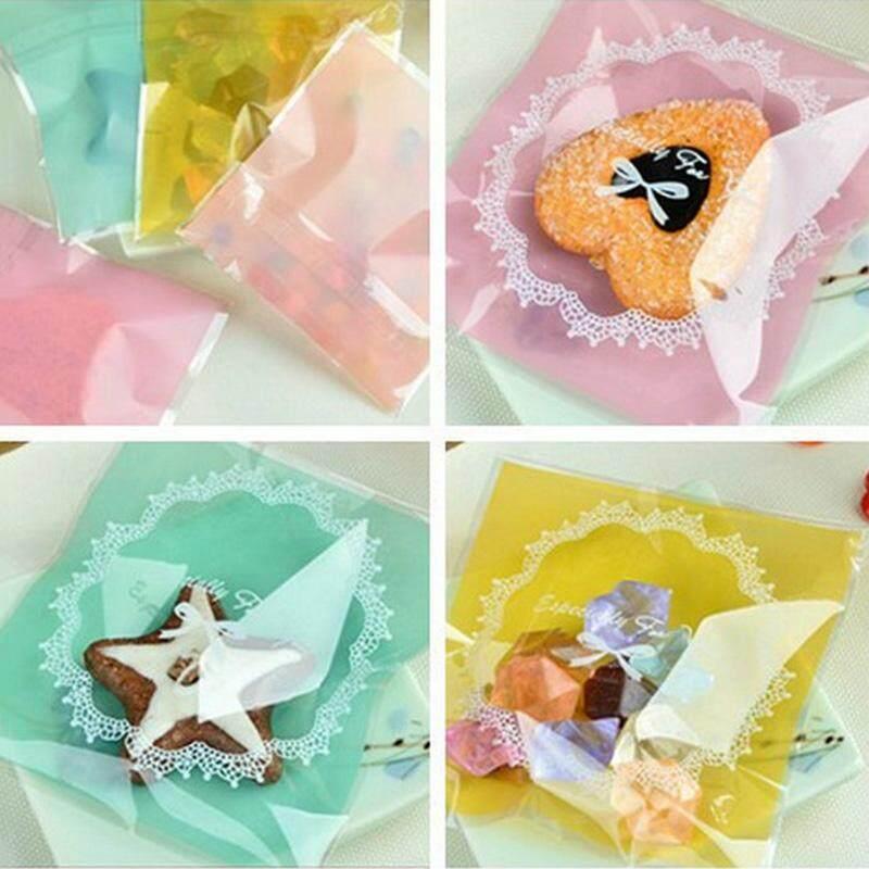 Rp 49.000 100 Pcs Kemasan Kue Renda Diri Perekat Kantong Plastik untuk Biskuit Paket Membuat ...
