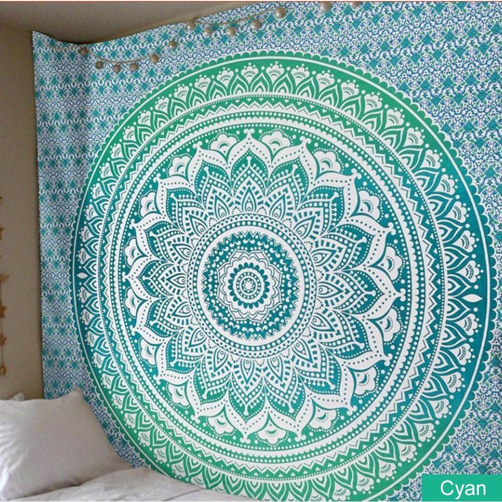 Polyester Indian Mandala Tapestry Wall Art Hanging Carpet Beach Towels Decorative Blankets Tablecloths Home Decor Accessories Home Automation Modules Smart Home