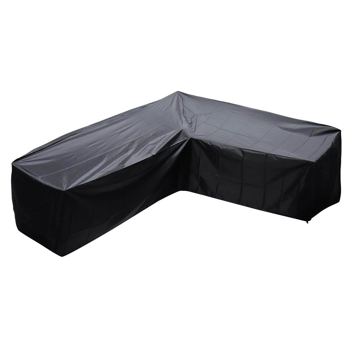 Waterproof Polyester Outdoor Garden Cover Sofa Furniture L Shape Furniture Cover #Small size