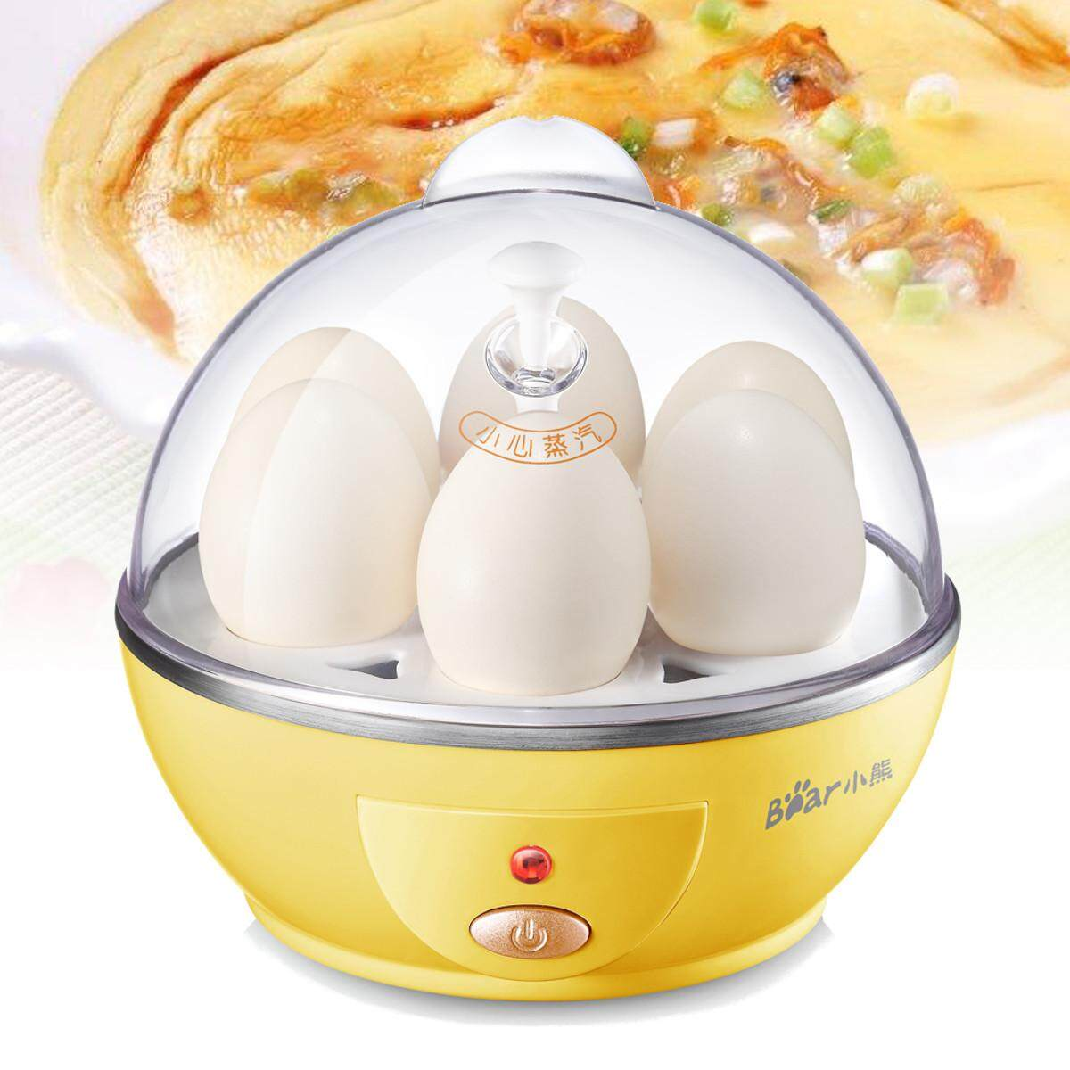 6 Egg Boiler Multifunction Mini Electric Cooker Steamer Poacher Auto Power-Off By Glimmer.