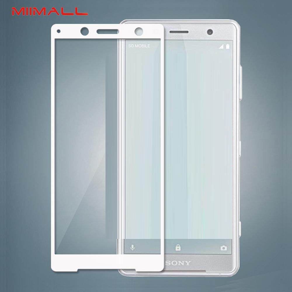 Miimall 3D Full Coverage 9H Hardness Tempered Glass Screen Protector for Sony Xperia XZ2/ Sony