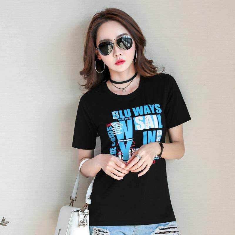 White T-shirt Women S Short-sleeved Korean Version 2018 Summer New Round Collar