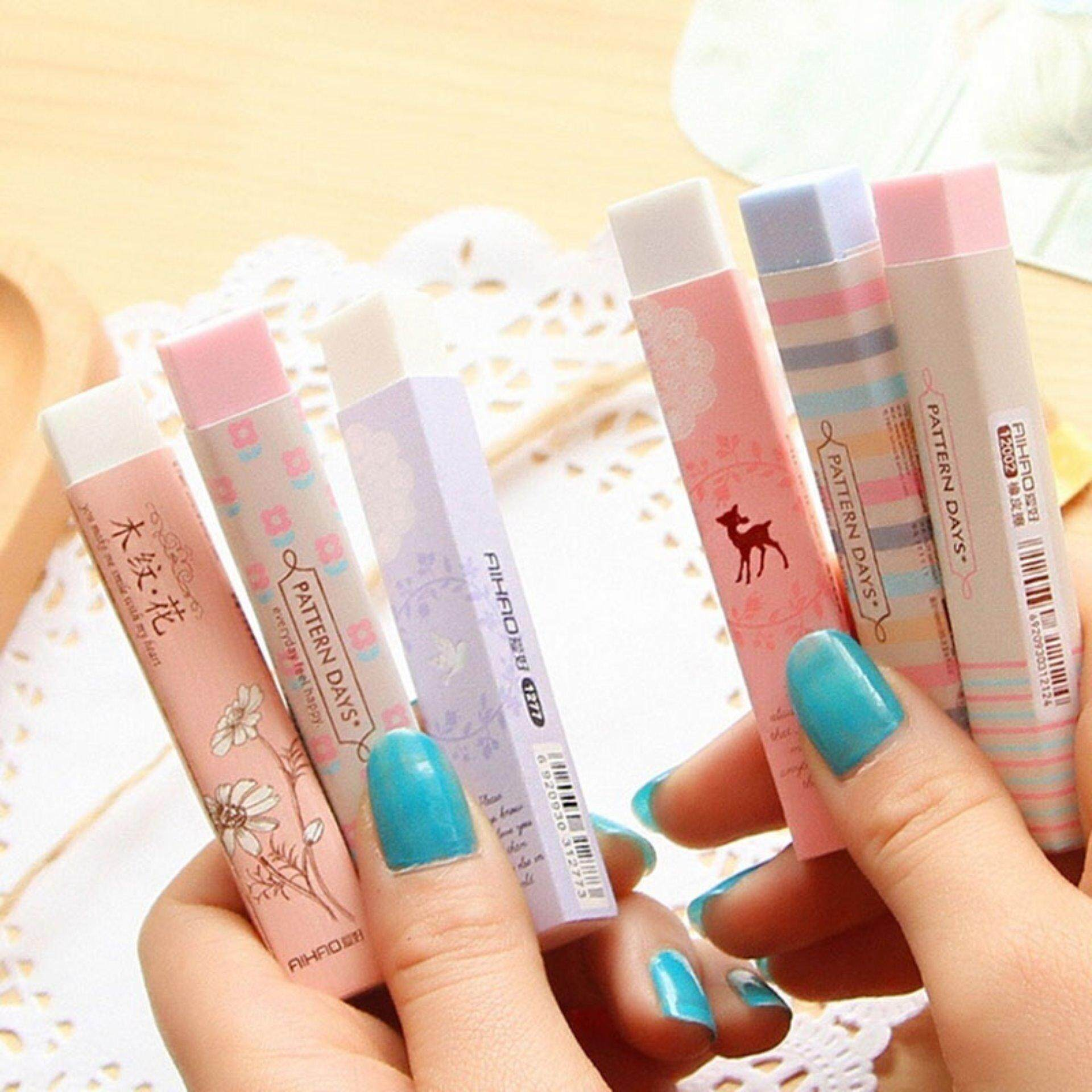 Mua 5pcs Elegant Long Cleansing Drawing Painting Rubber Eraser Stationary Gift - intl
