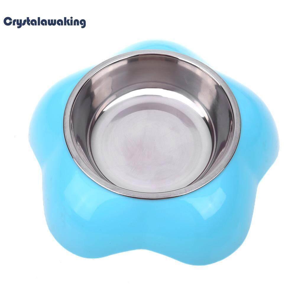 Hewan Peliharaan Pola Dual-Purpose Mangkuk Combo Baja Anti Karat Mangkuk Mangkuk Plastik Anjing By Crystalawaking.