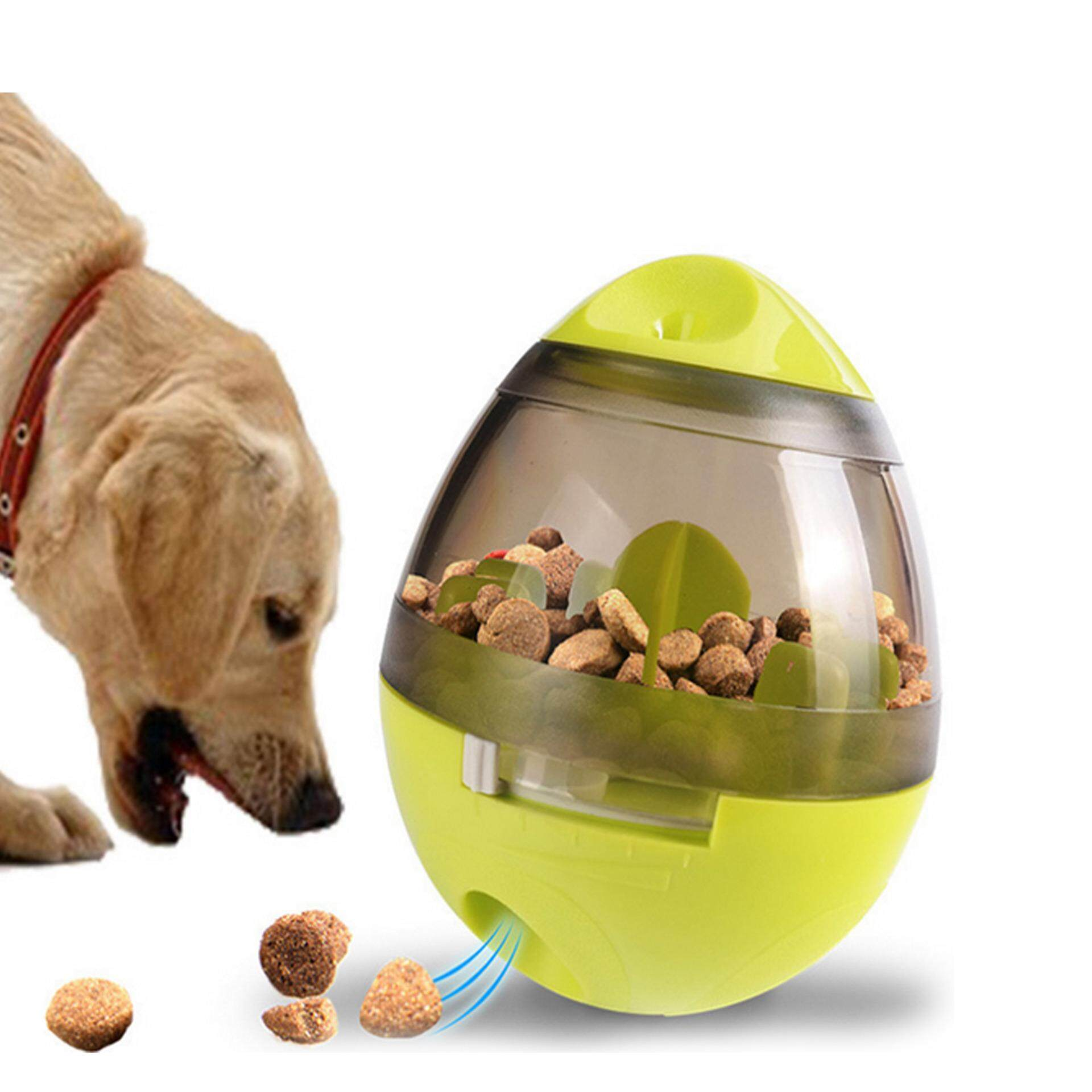 Interactive Pet Dogs Cats Food Dispenser Ball Food Treat Dispensing Feeding Ball Bowl Pet Game Toy - Intl By Stoneky.