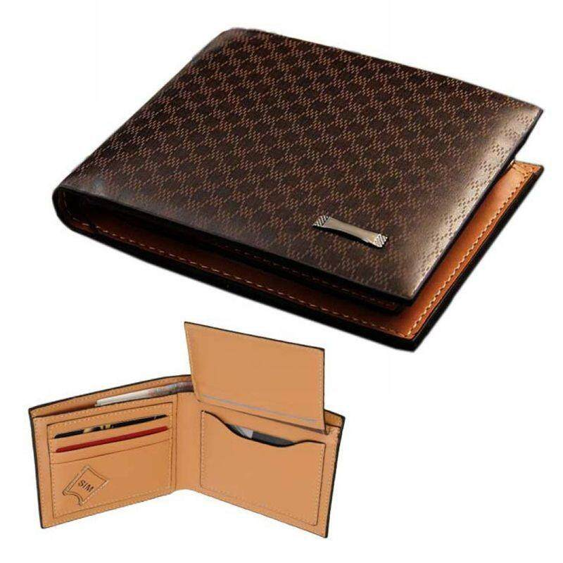 WLT-003 Original Pidengbao AP003 Man Leather RFID Protection Business Premium Short Men Wallet (Brown)