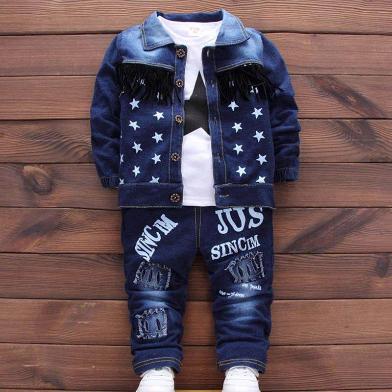 Ishowmall 3pc Baby Clothes Kids Outfits Boys Infant Toddler Denim Coat&t-Shirt &pants New By Ishowmall.