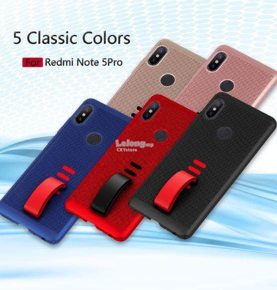 XIAOMI Redmi Note 5 GRID Hole with Hidden GRIP Strap PC CASE...