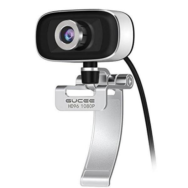 GUCEE HD96 1080P Webcam with Tripod Ready Base (Tripod Not Included), Web Camera HD Microphone Wide Angle USB Plug and Play, Widescreen Calling Recording for Skype, for Win 7 / 8 / 10, Apple Mac OS X - intl