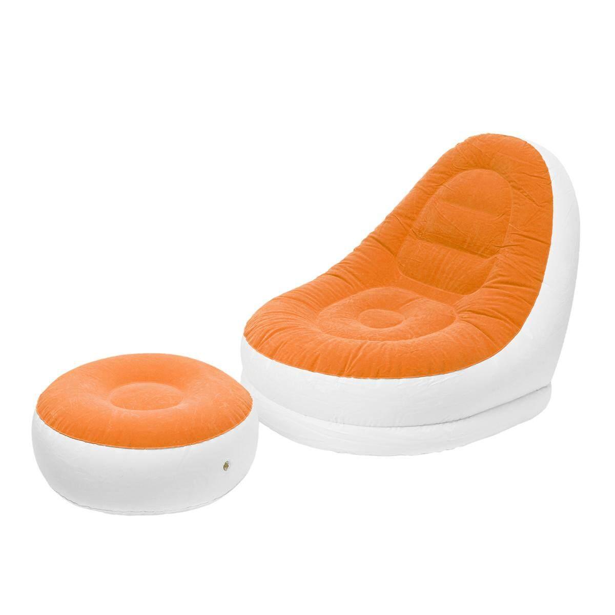 Intex Inflatable Sofa Chair Adult Bean Bag Soft Light Beanless Camping Seat New#Orange - intl