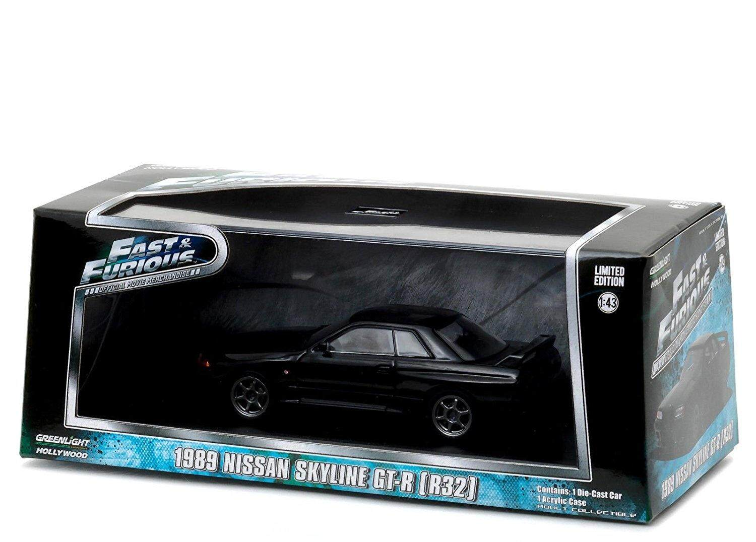 1989 fits Nissan Skyline GT-R (R32) Black Fast and Furious