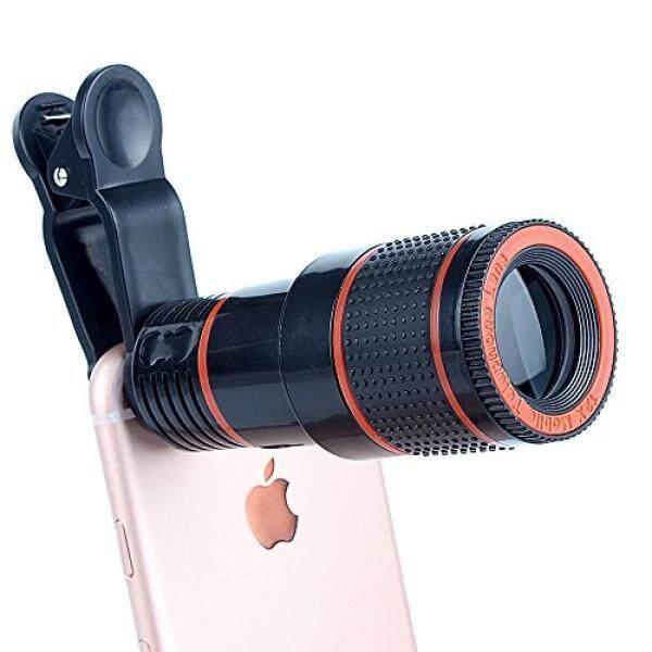 Ponsel Lensa Lampiran Terbaik Ponsel Lensa Kamera Kit 12X Optical Zoom Universal Definisi Tinggi Fokus Teleskop Telepon Seluler Lensa dengan Klip Universal untuk iPhone, Samsung Galaxy, HTC, Sony, LG & Paling Smartph-Intl