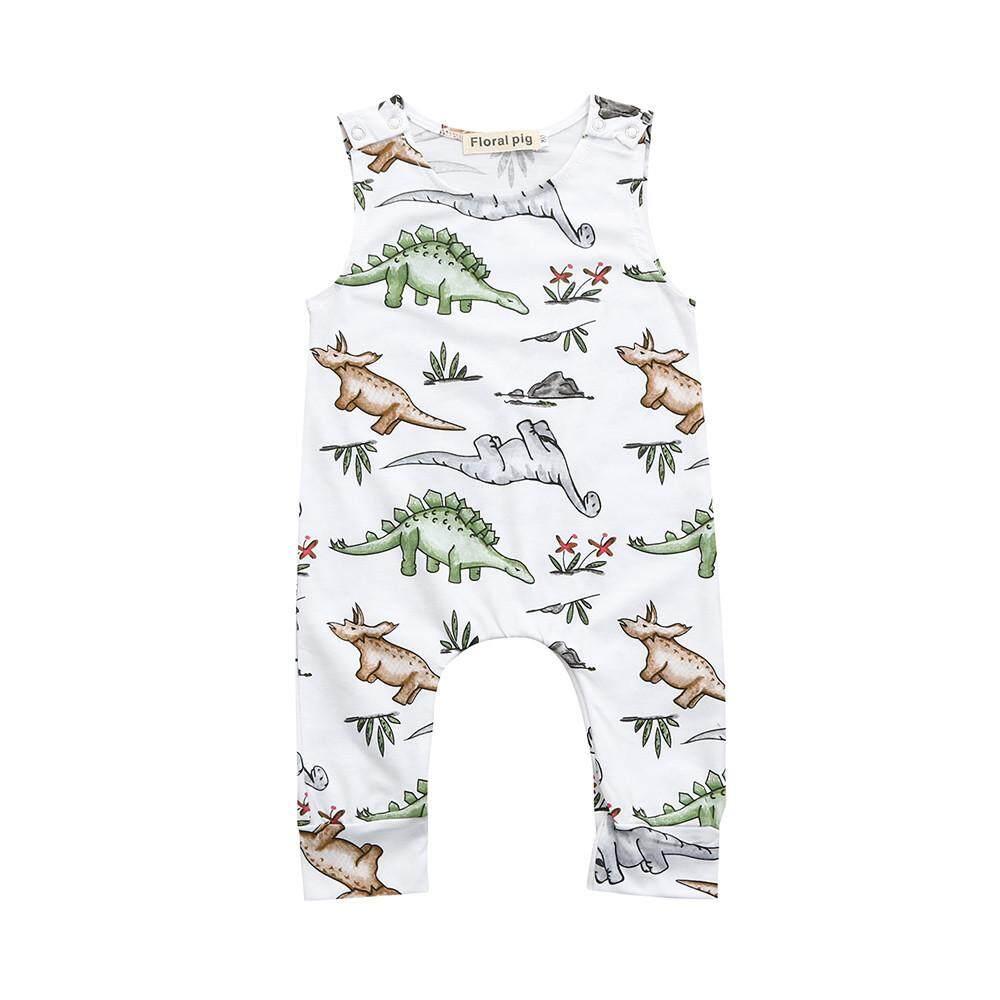 db95511a0 Newborn Infant Baby Boys Girls Cartoon Dinosaur Print Romper Jumpsuit  Outfits