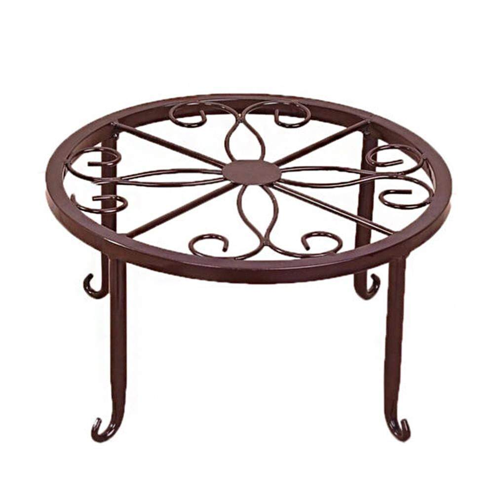 Flower Pot Rack Garden Wrought Iron Plant Stand Indoor Home Balcony Outdoor Display Planter Holder