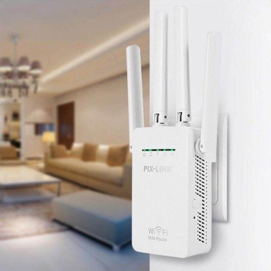 Osman 4 Antena 300 Mbps Wireless Router Repeater Wifi Range Ekstender Sinyal Booster