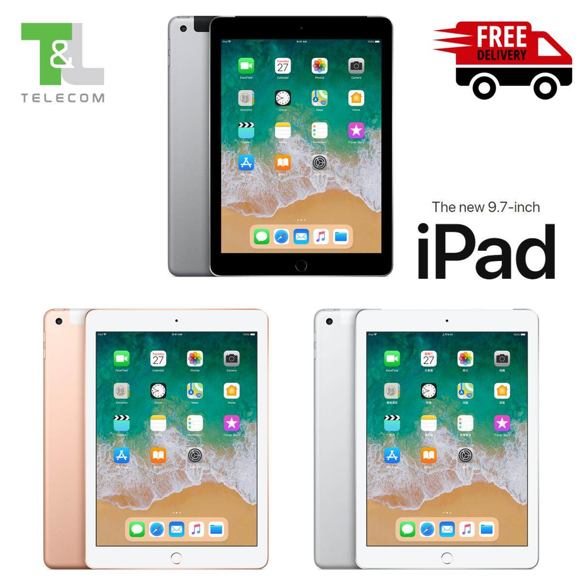 Features Apple Ipad 9 7 2018 32gb Wi Fi Cellular Lte Space Grey Pro 105 512gb New Silver Wifi Only 97