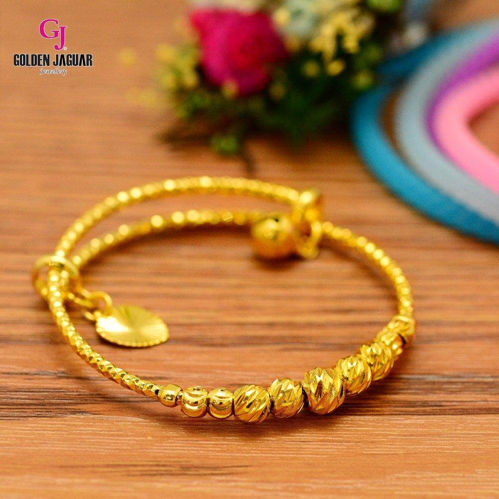 Emas Korea Golden Jaguar Kids Bangle (GJJ-99619-2)