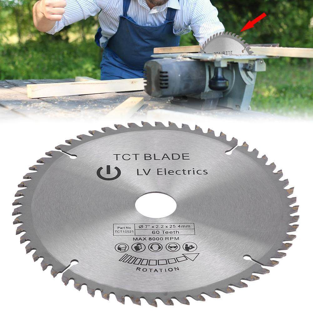 "Sunflower 7"" (180mm) 60 Teeth Carbide Circular Saw Blade Cutting Disc for Steel Aluminum Wood Plastic"