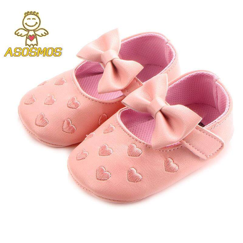 b75512866440 ASM Infant Toddler Baby Girl Sole Crib Shoes Bowknot Soft Anti-Slip Leather Sneakers  Shoes