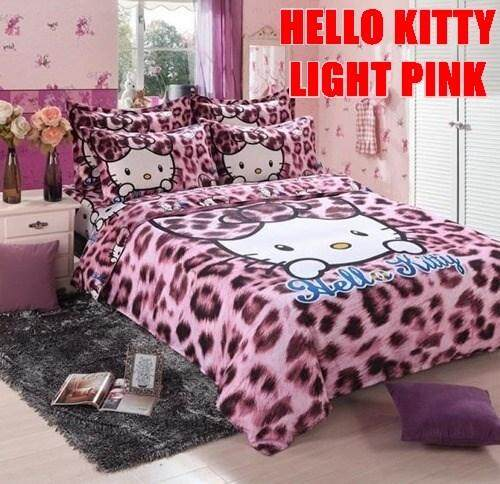 CARTOON BED SHEET HELLO KITTY PINK 13 DESIGN (FITTED) FOR KING SIZE