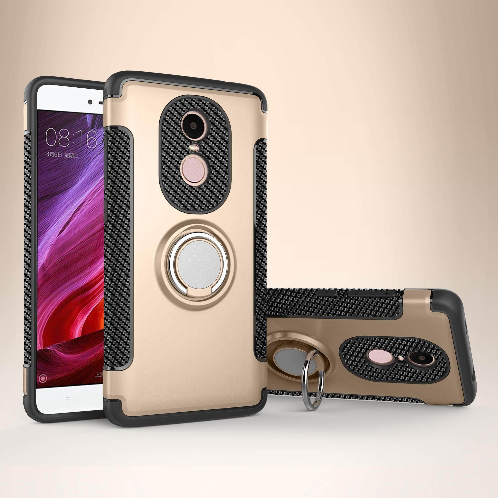 Lingkup Weaver Picatinny Carbon Fiber Tekstur Tpu Pc Combo Cangkang Pelindung Ponsel untuk Xiaomi Redmi Note