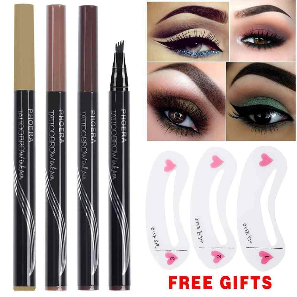 Burstore PHOERA 3D Automatic Matte Eyebrow Pencil Pensil Alis Mata 3D Eyebrow Pensil kening Cosmetics EyeBrow Pen Philippines