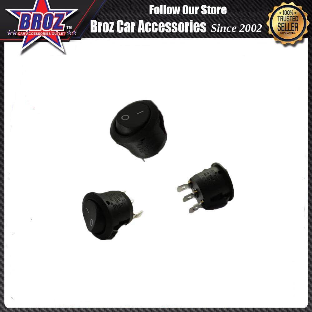 3-Pin PBS-11A On/Off Rocker Switch SPST (BLACK) RS-3P
