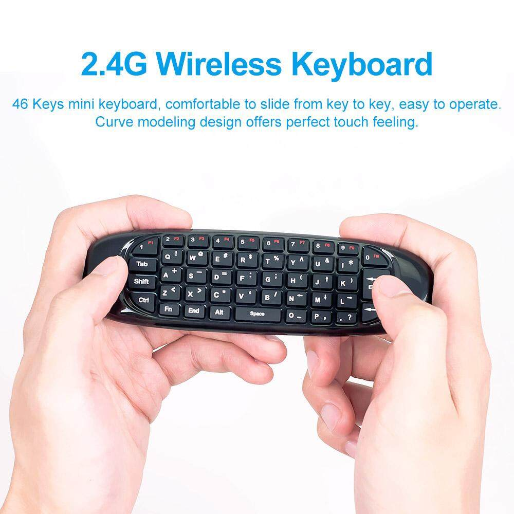 Features C120 2 4g Mini Wireless Keyboard Gyroscope Air Fly Mouse For Smart Tv 24g Universal Remote Control With Usb Receiver