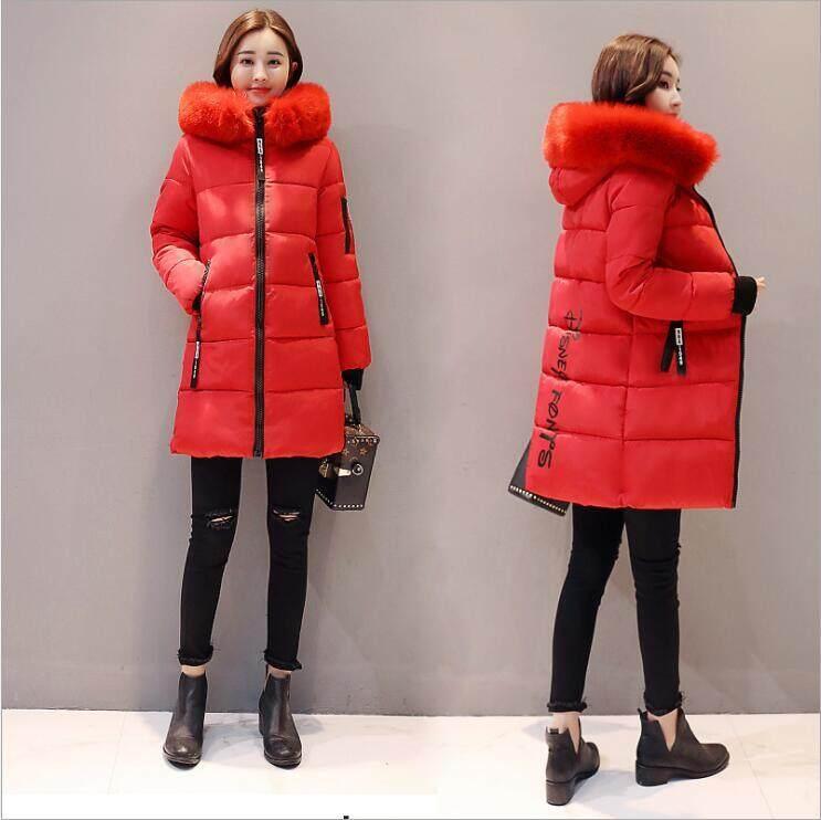 Rp 321.000. Farway 2018 Wanita Mantel Hangat Bertudung Jaket Musim Dingin  Kerah Bulu Besar Topi Panjang Parka Kapas Jaket ... 2af7703f7a