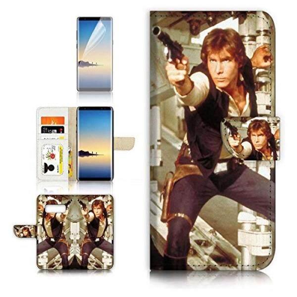 (Untuk Samsung Note 8) Dompet Flip Case Penutup & Pelindung Layar Bundle-A21340 Starwars Han Solo-Intl