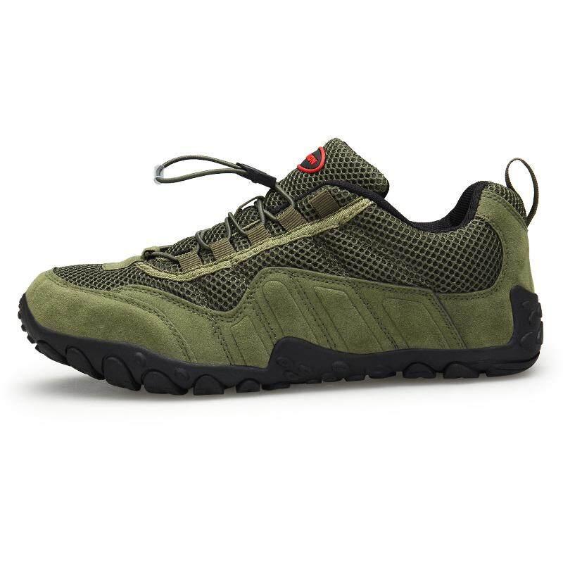 Detail Gambar Mendaki Musim Panas Olahraga Luar Ruangan Hiking Sepatu untuk  Pria Hijau-Internasional Terbaru e9cc38c7ca