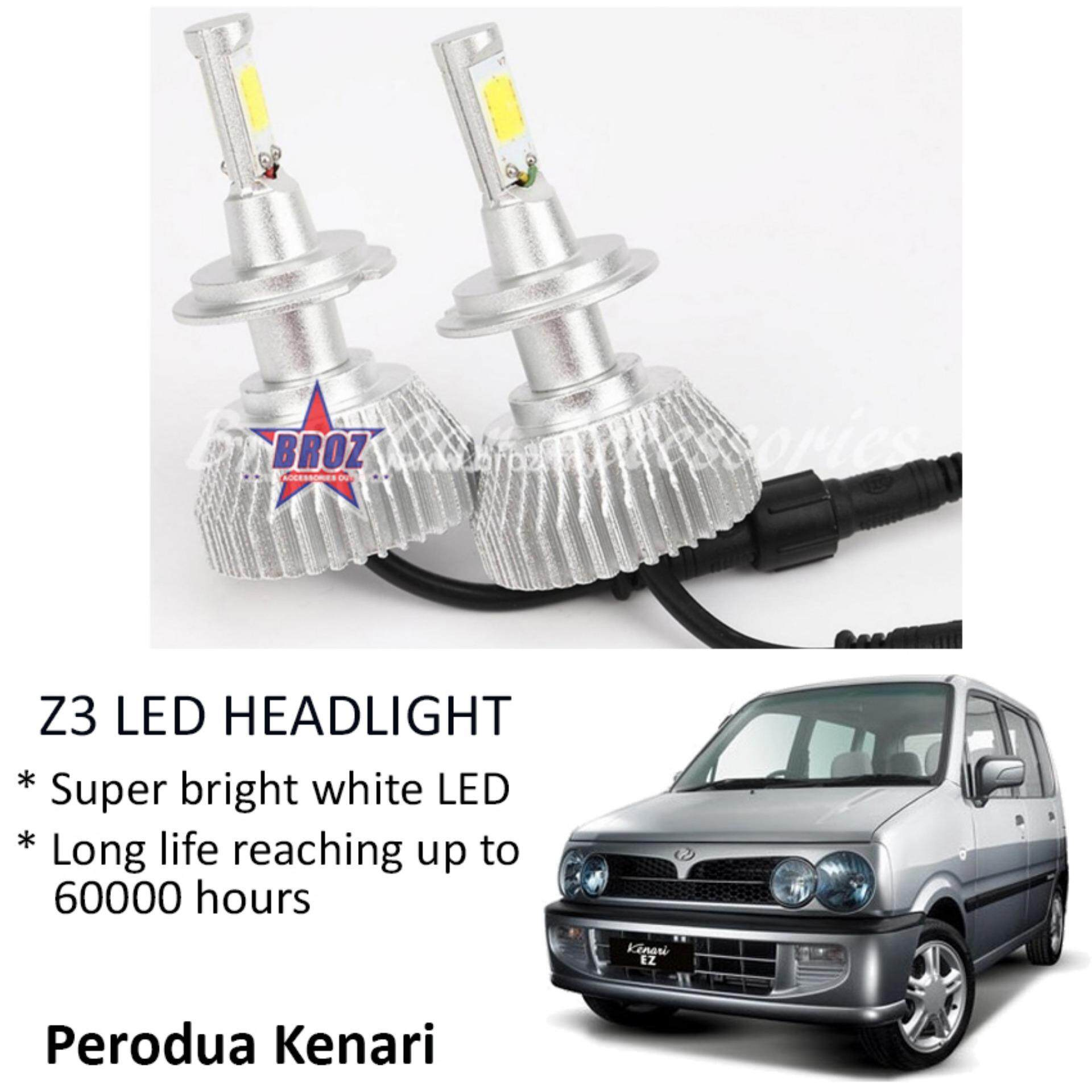 Perodua Kenari (Head Lamp) Z3 LED Light Car Headlight Auto Head light Lamp 6000k White Light