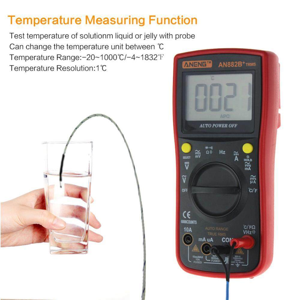 Shanyu ANENG AN882B+ Digital Multimeter DC/AC Voltage Current Resistance Meter (Red)