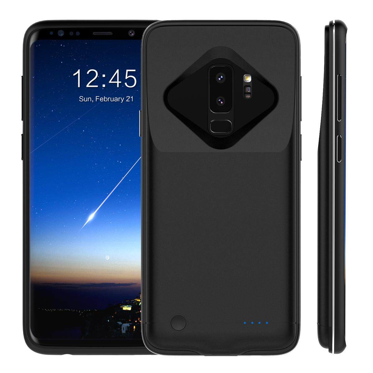 Moonmini Case Cover for Samsung Galaxy S9 Plus Battery Charger Case 5200mAh External Backup Charger Power