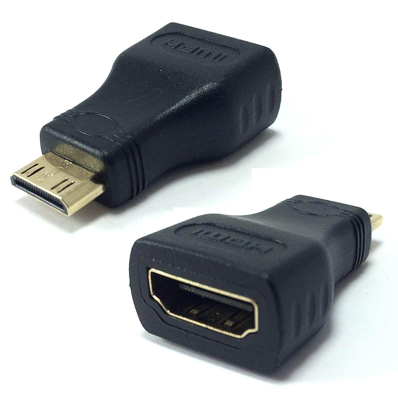 Mini HDMI (Tipe C) Standar HDMI Wanita (Tipe A) konverter Adaptor untuk Menghubungkan Leica X Vario Kamera untuk TV HDTV LCD, Plasma, Monitor dengan HDMI Port-Intl