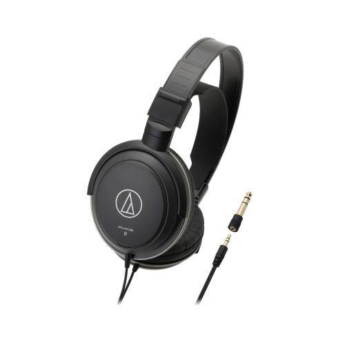 Audio Technica ATH-AVC200 Over-ear Headphones 40mm Drivers 3.5mm Jack with 6.3mm Adapter (Black)