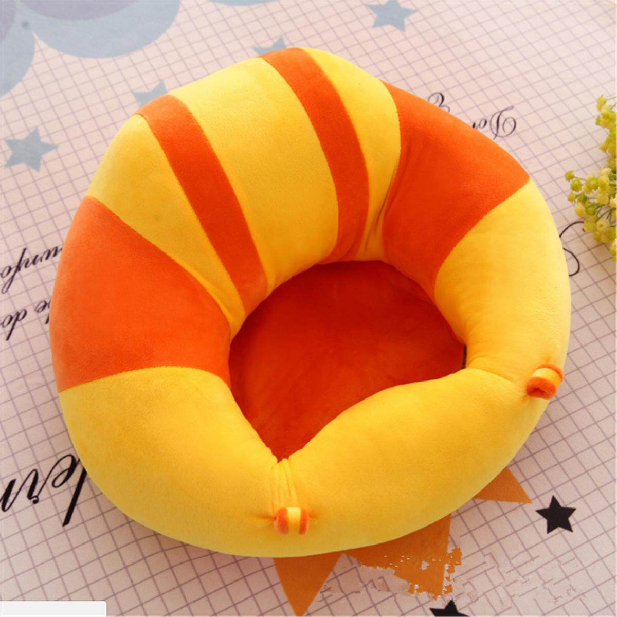 Baby Sofa Seat Learn Sit Feeding Chair Children Kids Sleeping Plush Cushion Toy # Orang+yellow - intl