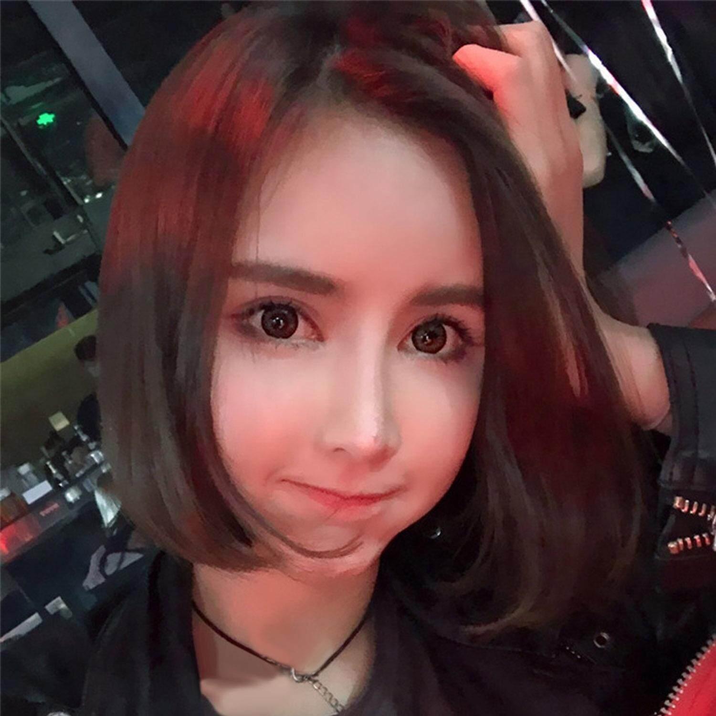 ... Mode untuk Wanita Gaya Bob Ekstensi Rambut Pendek Wig untuk Pemakaian  Harian Topeng Cosplay Kostum Pesta ... 86cea40249