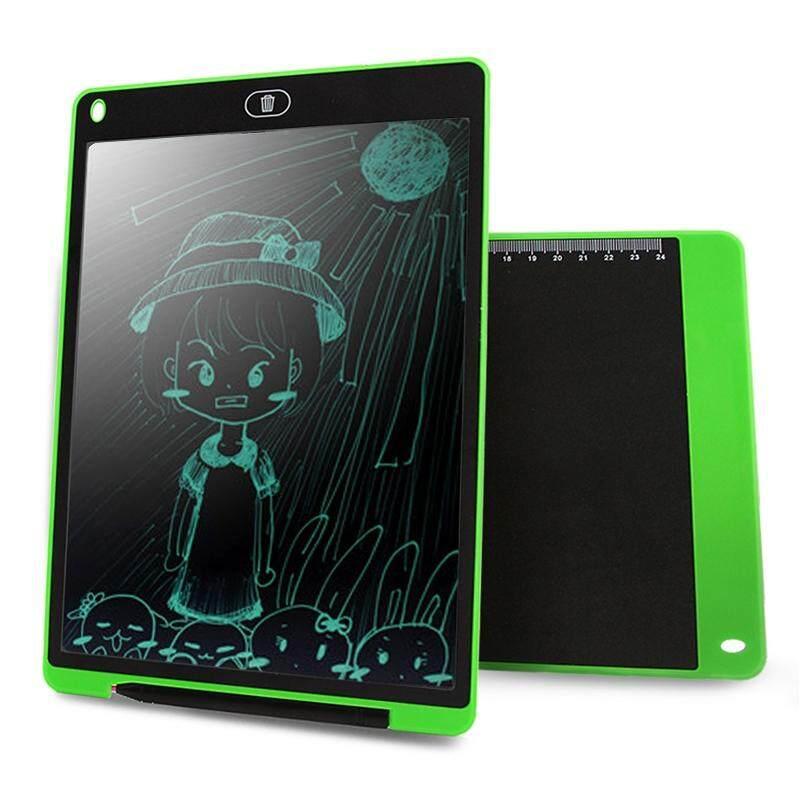 Chuyi Portabel 12 Inch LCD Menulis Tablet Menggambar Coretan Handwriting Elektronik Alas Pesan Papan Grafis Draft Kertas dengan Pena Menulis, CE/FCC/RoHS Sertifikat (Hijau)-Internasional