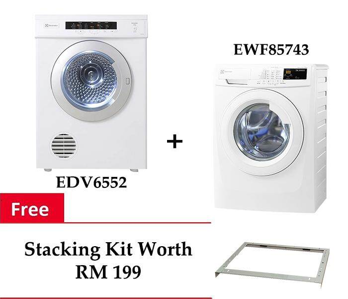 Electrolux EWF85743 Front Load Washer 7.5kg + EDV6552 Venting Dryer 6.5kg   FREE STACKING c506bbb38f