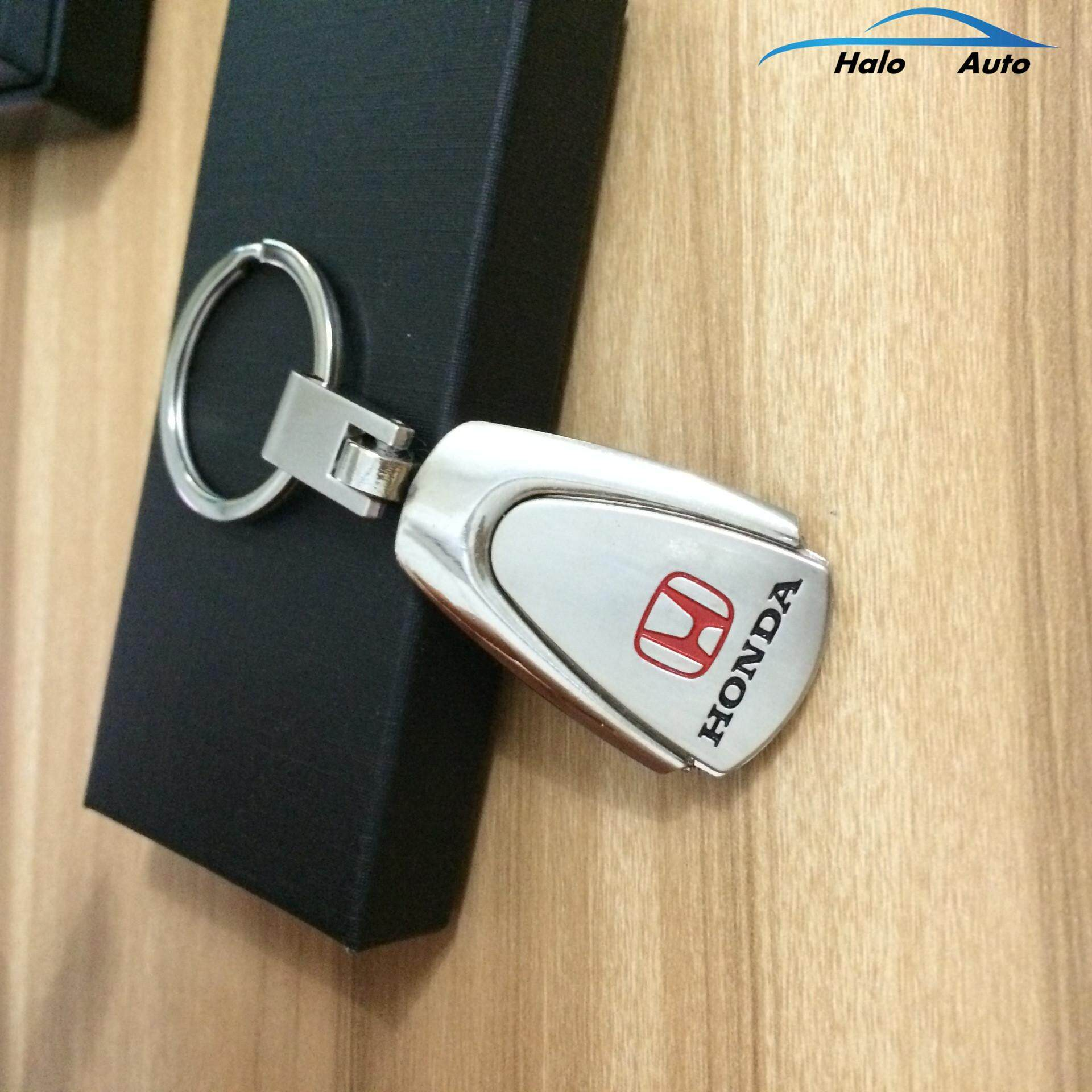 Features Car Keychain Stainless Steel Metal Honda Car Logo Keychain
