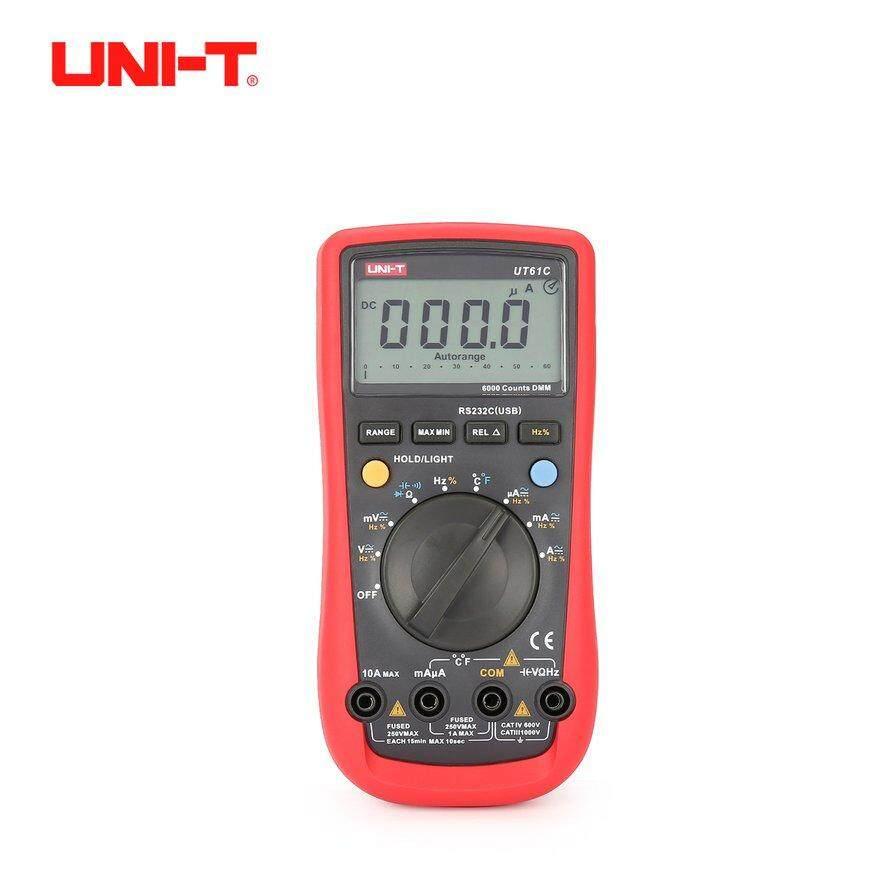 Osman UNI-T UT61C 6000 Hitungan Multimeter Digital Auto Rentang AC/DC Voltmeter Saat
