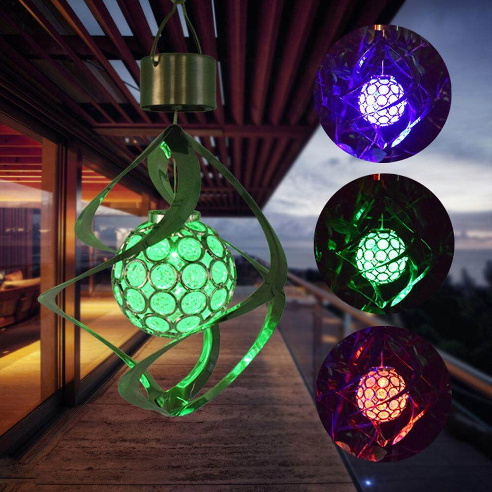 Lights & Lighting 1 Pcsnew Color Changing Solar Powered Led Wind Chimes Wind Spinner Outdoor Hanging Spiral Garden Light Courtyard Decoration Street Price