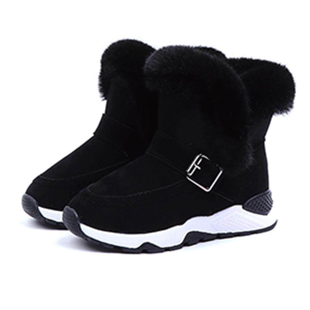 Giá bán Hossen Warm Non Slip Baby Boots Plush Boots Low Tube Boots Kids Shoes Snow Boots for Boys Girls