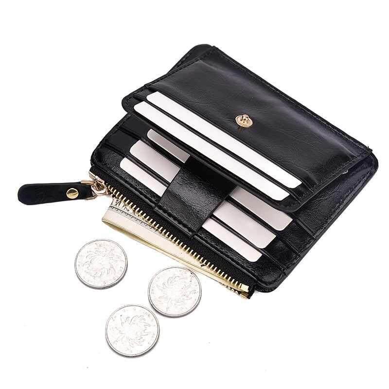 Detail Gambar Yuchen Pria Dompet Lilin Minyak Merek Kulit Asli Dompet Kartu Dompet Kartu Kredit Pemegang Kartu Card Case Kulit Terbaru