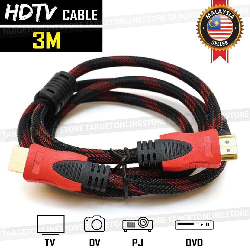 Hdmi To Hdmi Cable Hdmi Digital Audio Video 3m Hdtv Dvd Projector By Target Online Trading.