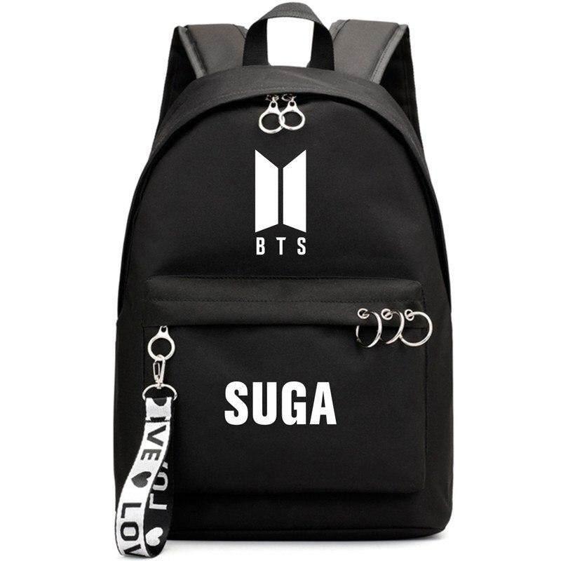 PT-B031 KPOP BTS Nylon Backpacks Bangtan Boys Album Love Yourself Young  Forever School Bags