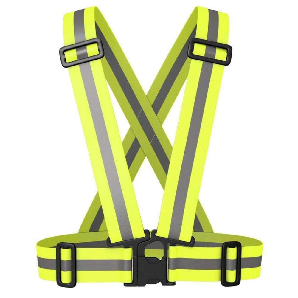 Safety Unisex Visibilitas Tinggi Mencerminkan Rompi Luar Ruangan Reflektif Cocok Untuk Lari Bersepeda Sabuk Rompi Safety By Puhua Shop.