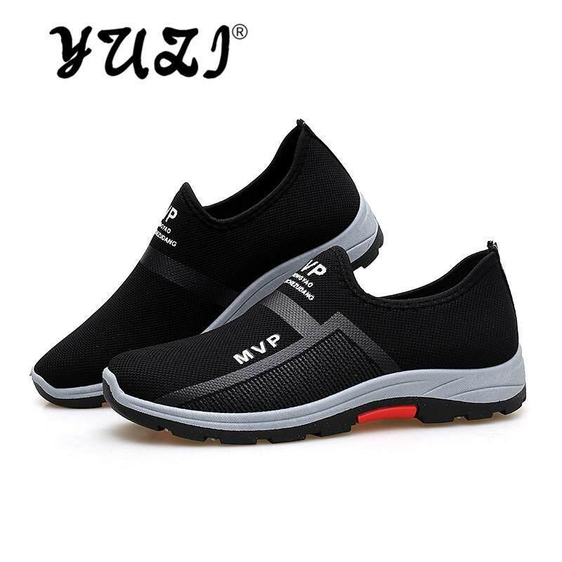 Yuzi Merek Kualitas Tinggi Sepatu Pria, Baru Bernapas Ringan Slip Sol Karet Pria Sepatu Jalan, Mudah Diatur Kaki Pedal Pria Olahraga Sepatu Kasual By Yuzi.