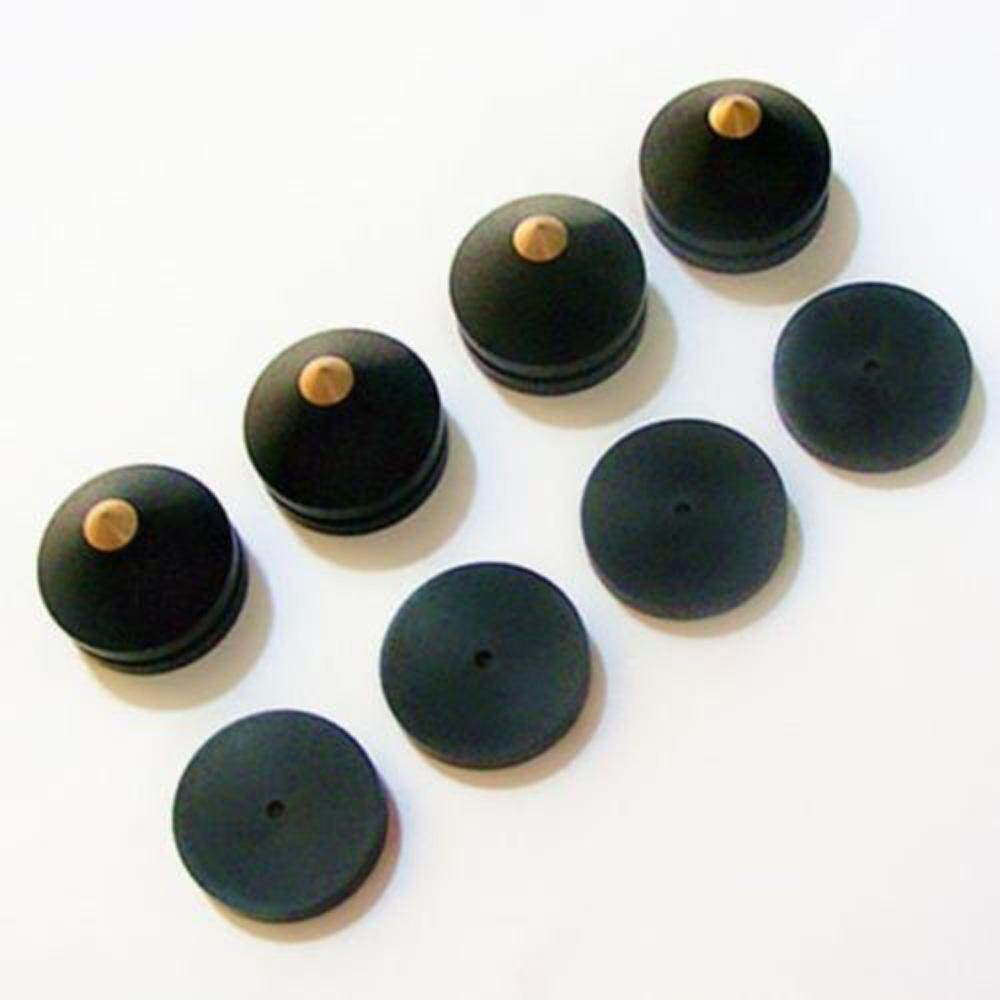 4pcs 23mm Ebony Speaker Spike Isolation Wooden Copper Stand Foot Spike Base Pads By Valueshopping-Mal.